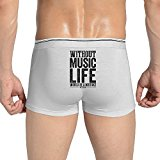 Best Music Quote Without Music Life A Mistake Boxer Briefs Men's Underwear Underpants