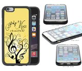 Music Love Quote Tree with Yellow Background iPhone 6 (4.7) INCH SCREEN Rubber Silicone TPU Cell Phone Case