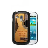 Acoustic Guitar Country Music Quote Samsung GALAXY S3 Mini (i8190) Hard Plastic Phone Case