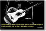 Sometimes You Want to Give up the Guitar - Jimi Hendrix - NEW Famous Music Quote Poster