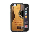 Acoustic Guitar Country Music Quote Apple iPhone 6, 4.7 Rubber TPU Silicone Phone Case