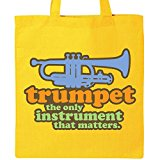 Inktastic Trumpet Funny Music Quote Tote Bag Yellow