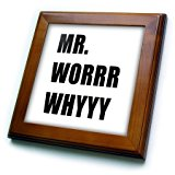 Tory Anne Collections Quotes - MR.WORRR WHYYY - 8x8 Framed Tile (ft_243859_1)