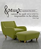 Stickerbrand Vinyl Wall Decal Sticker Victor Hugo Music Quote OS_DC524s