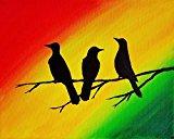 Three Little Birds Wall Art Rasta Decor 8x10 Inch Art Print