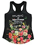 Plato Music Quote Sublimation Girls Tank Top (Large)